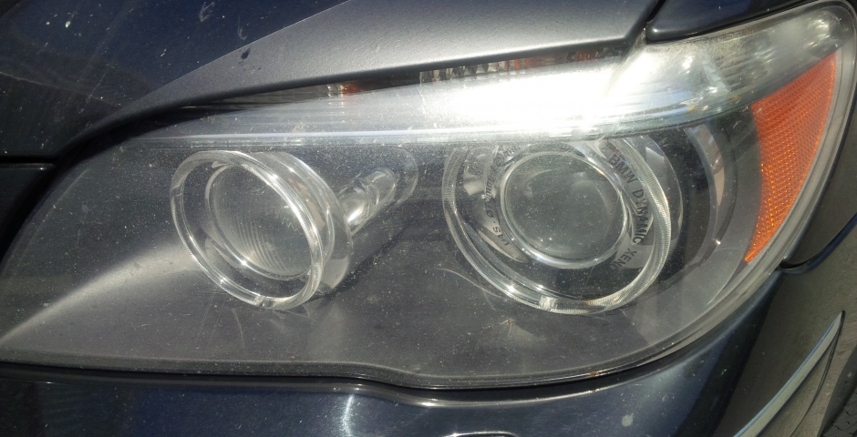 BMW Headlight Restoration Before